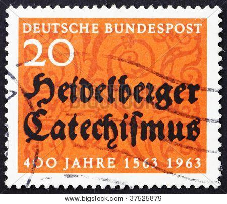 Postage stamp Germany 1963 Heidelberg Catechism