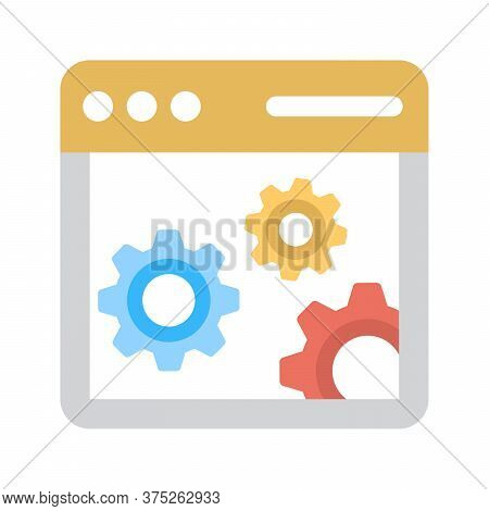 Web Settings Icon. Web Page Preferences Sign.