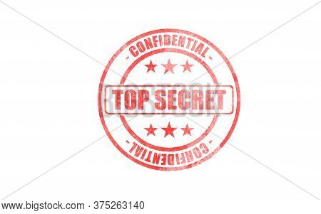 Top Secret, Confidential Stamp. Stamp With Text Top Secret, Confidential Isolated On White Backgroun