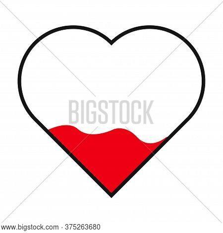 Heart Filled Icon. Filling Heart Vector Isolated Icon.
