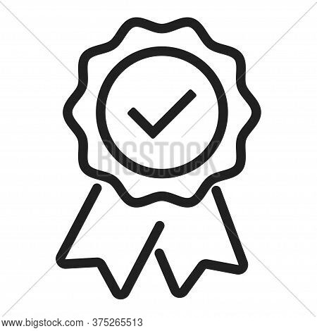Warranty Certificate Badge. Vector Isolated Approve Icon.