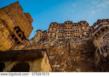Mehrangarh Or Mehran Fort, Located In Jodhpur, Rajasthan, Is One Of The Largest Forts In India.