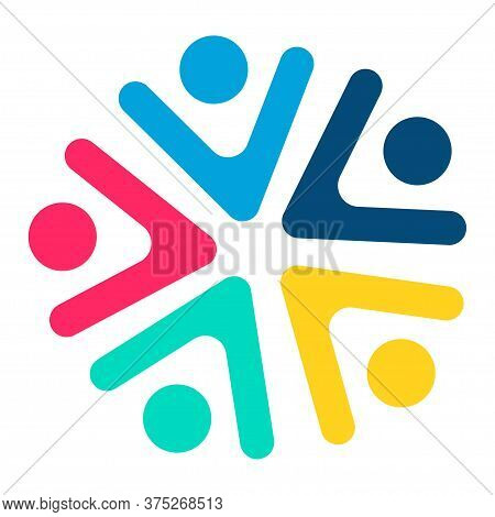 Social Team Logo Icon. Social Diversity, Team Work.