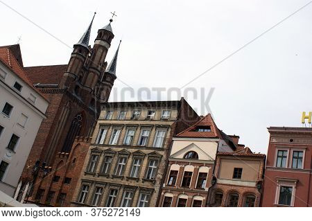The City Square In The City Of Toruń In Poland