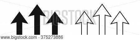 Arrow Growth Up Icon. Vector Upward Symbol. Eps 10.