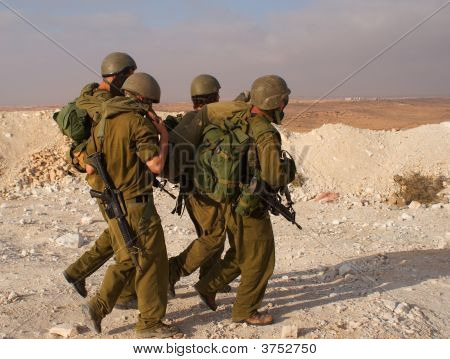 Israeli Soldiers Excersice In A Desert