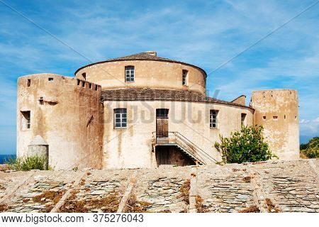 a view of the old Genoese Citadel in Saint-Florent, Corse, France, built in in the fifteenth century