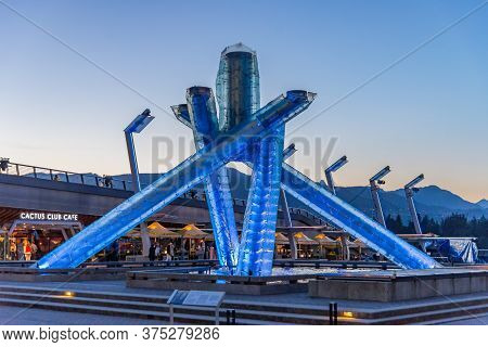 Vancouver, British Columbia / Canada - 06/14/2015. Olympic Torch Vancouver Highlights Of City And Ha