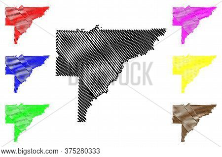 Baker County, Georgia (u.s. County, United States Of America,usa, U.s., Us) Map Vector Illustration,