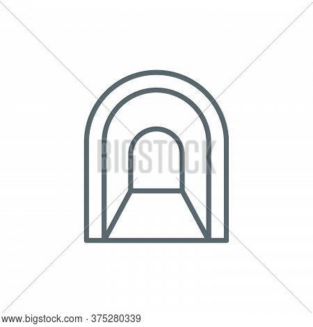 Tunnel Vector Icon Symbol Isolated On White Background
