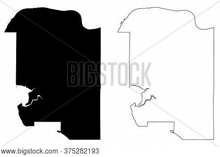 Surrey City (canada, British Columbia Province) Map Vector Illustration, Scribble Sketch City Of Sur