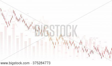 Forex Stock Market Exchange Background. Financial Web Banner Template For Forex Trading Graph Chart.