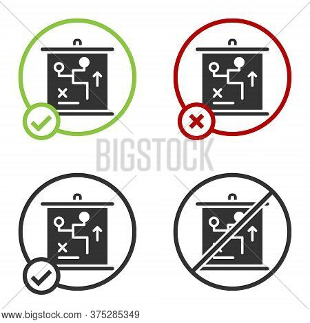 Black Planning Strategy Concept Icon Isolated On White Background. Cup Formation And Tactic. Circle