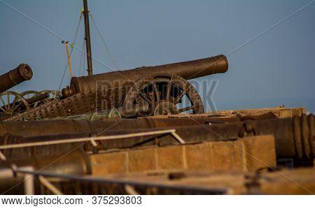 Cannons At Mehrangarh Or Mehran Fort, Located In Jodhpur, Rajasthan, India