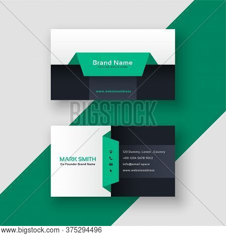 Elegant Geometric Business Card Template