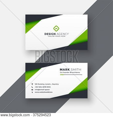 Modern Professional Business Card Template.simple Business Card. Corporate Business Card Design.colo