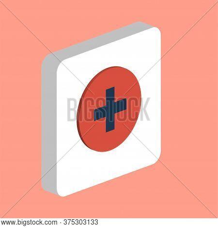 Medical Cross Simple Vector Icon. Illustration Symbol Design Template For Web Mobile Ui Element. Per