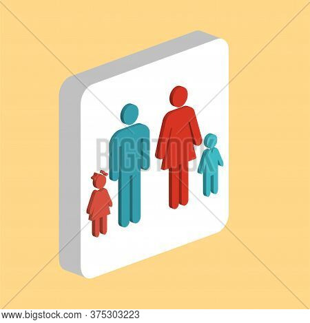 Happy Family Simple Vector Icon. Illustration Symbol Design Template For Web Mobile Ui Element. Perf