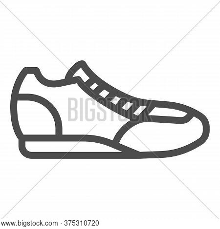 Sneaker Line Icon, Sport Concept, Running Shoe Symbol On White Background, Fitness Sneakers Icon In