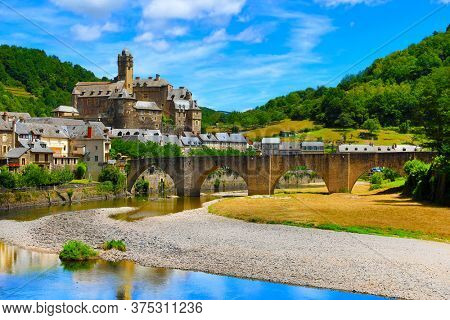 Estaing, beautiful touristic village in Aveyron-France