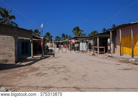 Nungwi, Zanzibar / Tanzania - 02 Jan 2017: Nungwi Village On Zanzibar, Tanzania