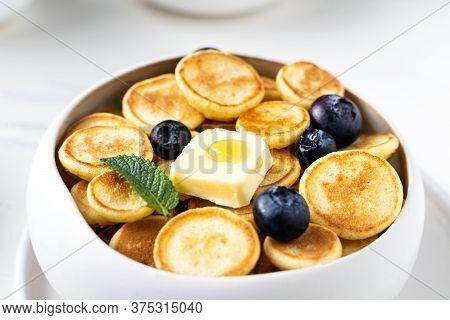 Trendy Homemade Breakfast, Pancake Cereal, Mini Pancakes With Berries