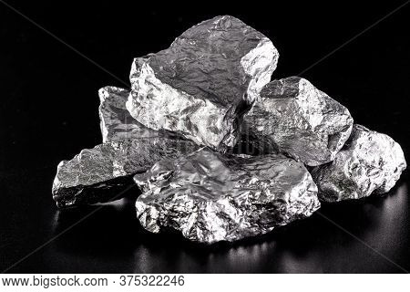 Element / Germanium Germanium Is A Chemical Element With The Symbol Ge, Silver Ore.