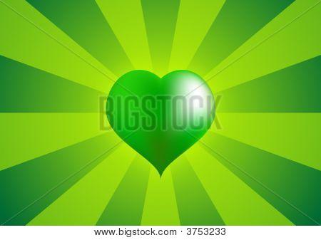 Big Green Love Heart 2