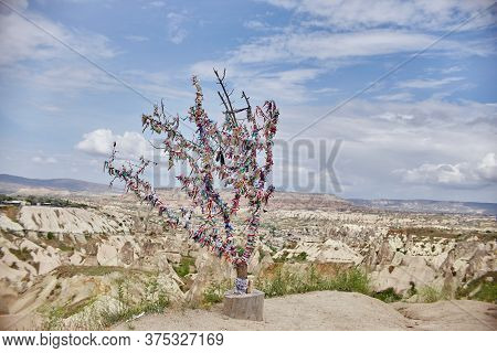 Cappadocia Underground City Inside The Rocks, The Old City Of Stone Pillars.fabulous Landscapes Of T