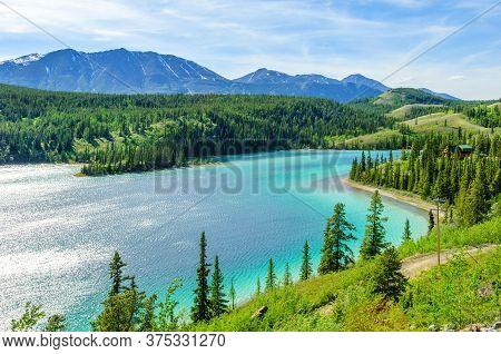 Emerald Lake By South Klondike Highway, Yukon Territory, Canada