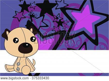 Baby Kawaii Pug Dog Toy Cartoon Wallpaper Background In Vector Format