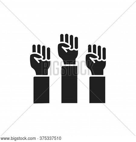 Human Fists Lgbt Protest Black Glyph Line Icon. Lesbian, Gay, Bisexual, Transgender. Rainbow Power C