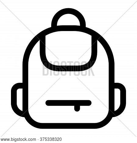 Backpack Icon. Bag For School, Traveling, Camping. Rucksack, Knapsack Icon.