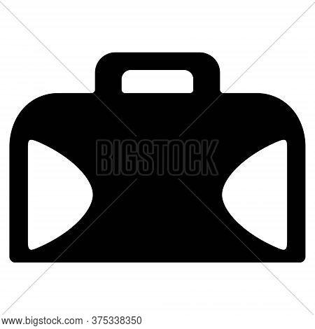 Briefcase Icon. Bag For Laptop Or Notebook. Business Bag, Documents Bag, Portfolio Bag Illustrations