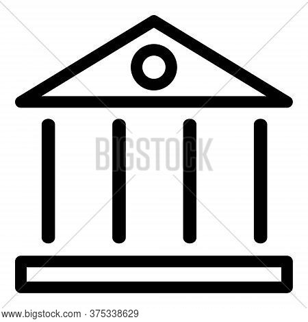 Institution Icon. Court Building Symbol. Bank, Financial Institute, Wall Street Symbol. Federal Hall