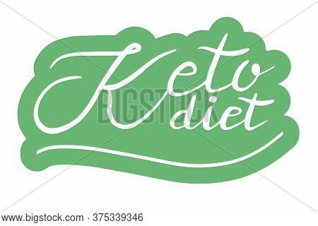 Keto Friendly .logo, Badge, Poster, Banner Template. Lettering Calligraphy Illustration. Vector Eps