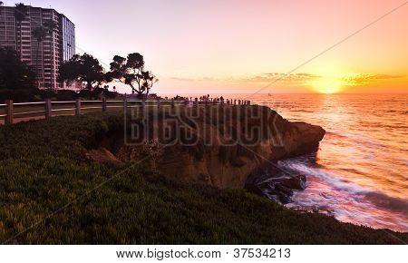 La Jolla San Diego Southern California Coast, Colorful Sunset