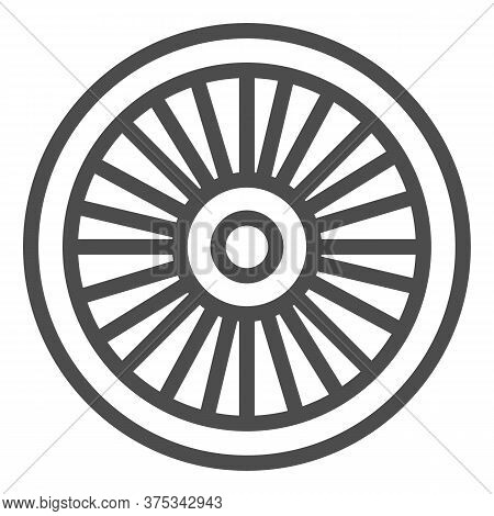 Bicycle Wheel Line Icon, Bicycle Parts Concept, Bike Wheel Sign On White Background, Parts And Detai