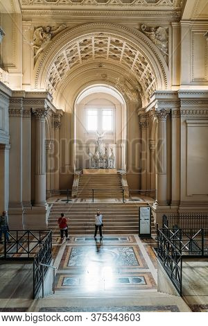 Rome, Italy - October, 2019: Inside Interior Of Monument Of Victor Emmanuel Ii, Famous Big White Bui