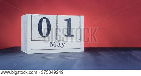 May 1 - May 1st - Beautiful Spring - The Most Positive Season Of The Year - White Blocks With Date A