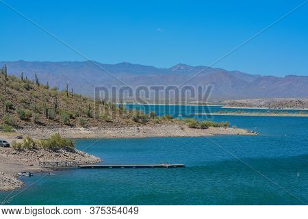 View Of Lake Pleasant In Lake Pleasant Regional Park, Sonoran Desert, Arizona Usa