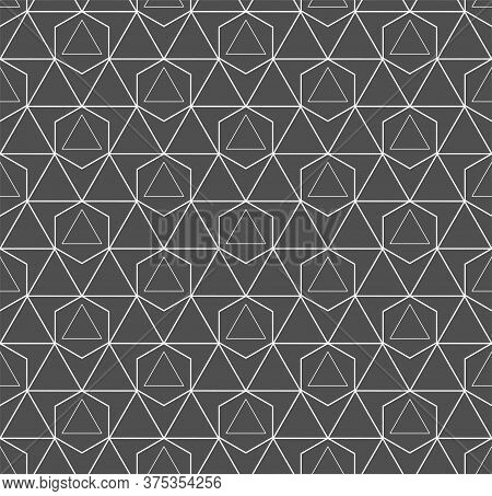 Repetitive White Graphic Web, Textile Texture. Continuous Creative Vector Rhombus Lattice Pattern. R