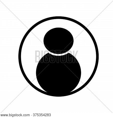 User Icon On White Background. Man Symbol. User Login Icon. User Profile With Plus Glyph Sign.