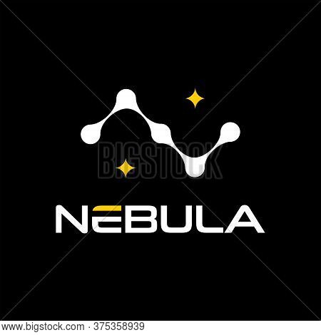 Initial Logo From Letter N Present Nebula Star Icon Template Idea