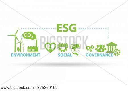 ESG concept as environmental and social governance