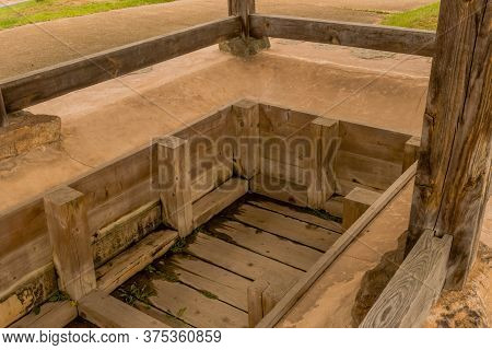 Replica Of Ancient Food Storage Pit Unearthed At Archeological Site In Buyeo, South Korea.