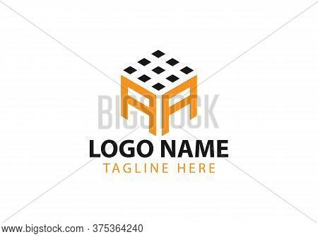 Business Corporate Letter Aa Logo Design Vector.letter Aa Cube Logo Vector Template. Letter Aa Logo