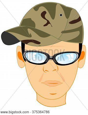Portrait Of The Head Men In Headdress Cap