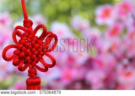 Chinese Feng Shu Wealth And Success Coins With Knot. Chinese New Year Decoration