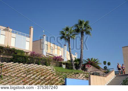 Orihuela, Costa Blanca, Spain - September 22, 2018:residential Residences On The Costa Blanca In Ori